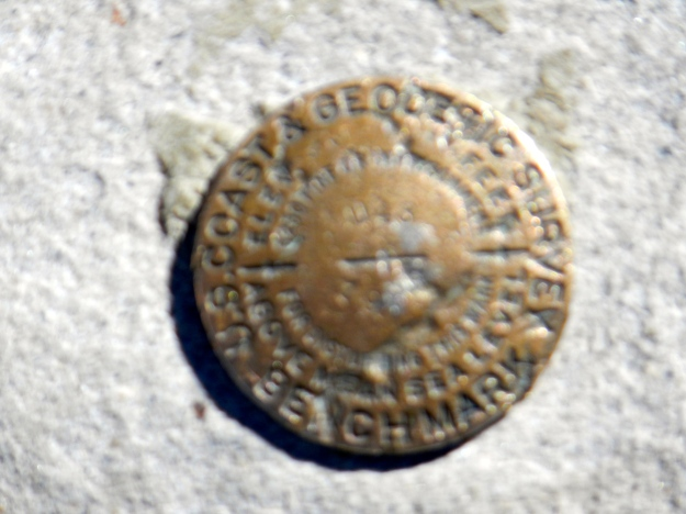 Emblem marking the top of Mt Whitney